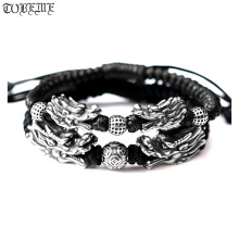 Handmade 999 Silver Dragon Bracelet Pure Silver Power Dragon Beads Bracelet Good Luck Bracelet handmade 999 silver dragon bracelet pure silver power dragon beads bracelet good luck bracelet