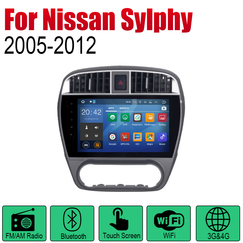 ZaiXi Android Car Radio Stereo GPS Navigation For Nissan Sylphy 2005 2012 Bluetooth wifi 2din Car Radio Stereo Multimedia Player in Car Multimedia Player from Automobiles Motorcycles