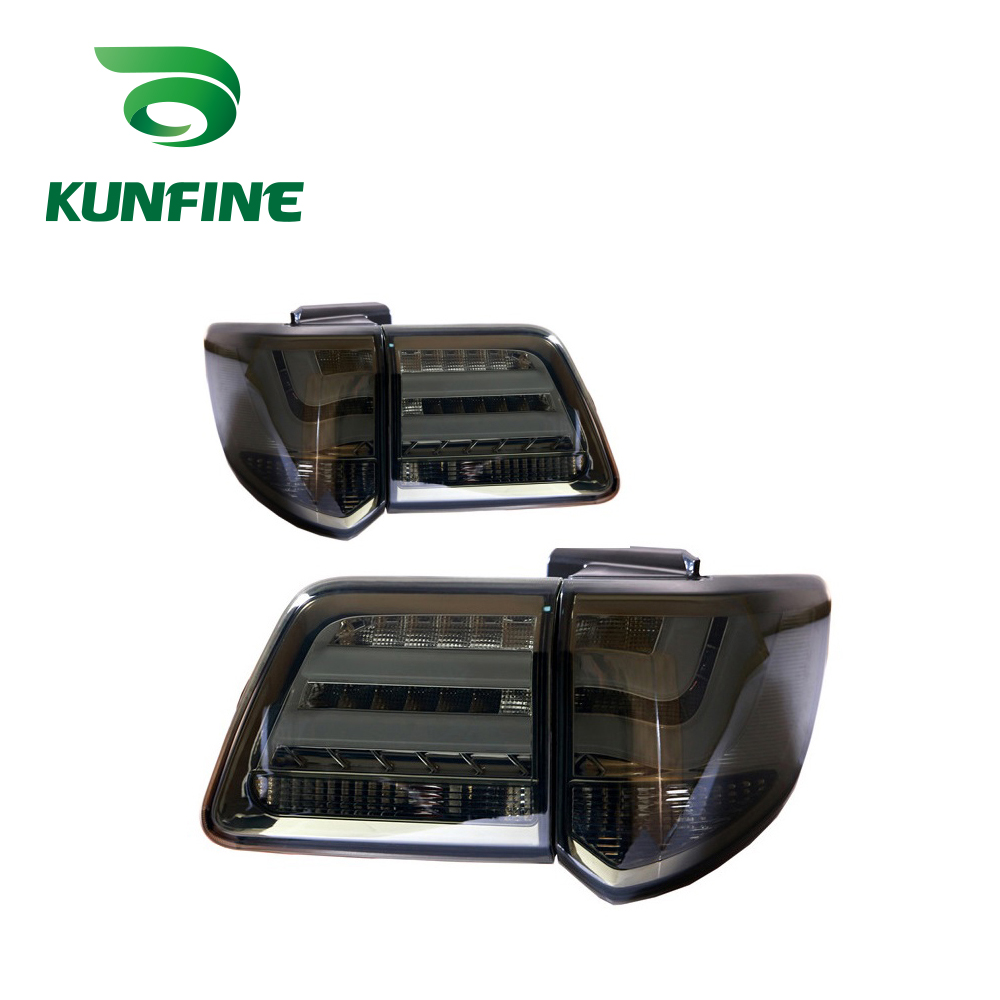 KUNFINE Pair Of Car Tail Light Assembly For TOYOTA FORTUNER 2012 2013 2014 2015 2016 LED Brake Light With Turning Signal Light yatour car adapter aux mp3 sd usb music cd changer 6 6pin connector for toyota corolla fj crusier fortuner hiace radios