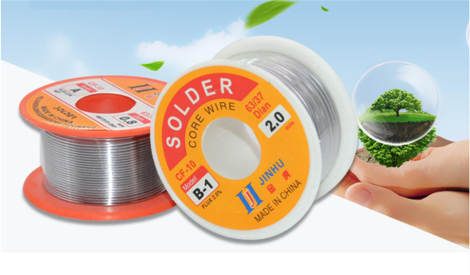 0.3/0.4/0.5/0.6/0.8/1/1.2/1.5/2.0mm 50/100g 2.0% Tin Lead Tin Wire Melt Rosin Core Solder Soldering Wire Roll(China)