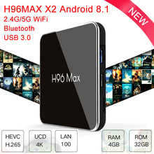 цена на H96 Max X2 Android 8.1 Smart TV Box Amlogic S905X2 RAM 4G ROM 32G Media Player Support 4K H.265 WIFI 2.4/5.0G Set top tv Box