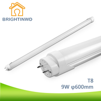 BRIGHTINWD T8 Ha Condotto La Lampada G13 Tubo 60 cm Lampada Led 110-265 V SMD 2835 9 W Dimmerabile Tubo Led A Risparmio Energetico Lampadina Sostituire Lampadina Edison