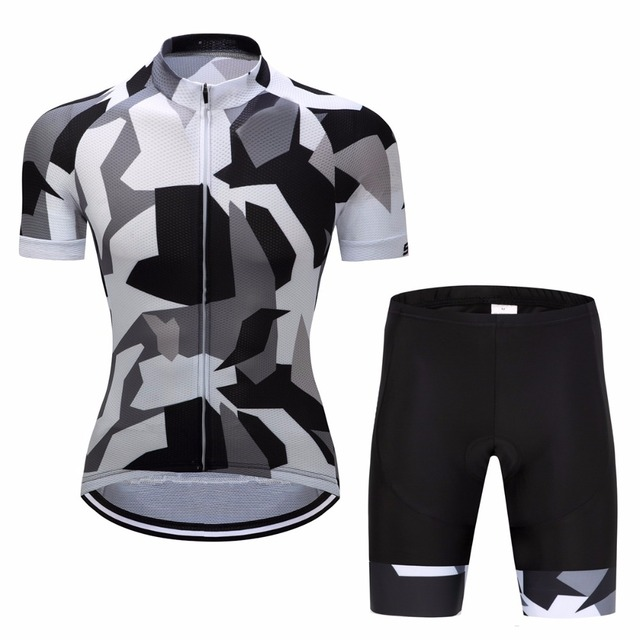 2017 Breathable Bike Cycling Clothing  Lycra Quick-Dry Short Sleeve Clothes  Bicycle Ropa Ciclismo Military Style Jersey Sets +9D eaf5c4079