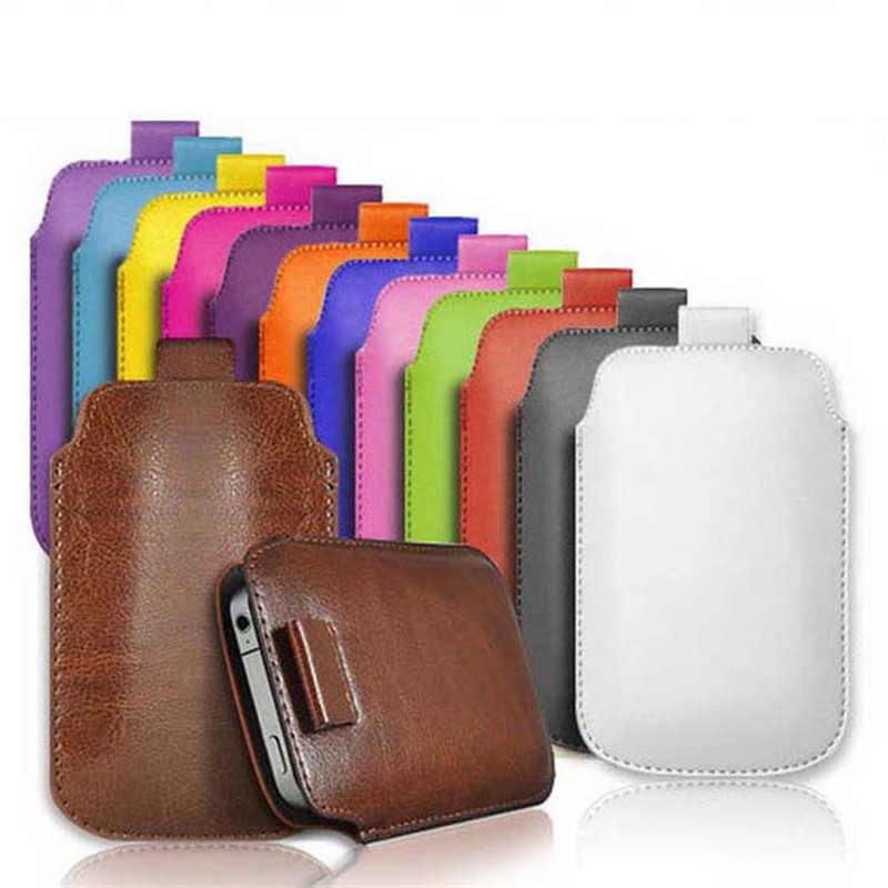 Coque en cuir pour Blackberry Z30 A10/classique Q20/bissexte/Priv étui de poche en corde étui à tirette accessoires étui pour téléphone