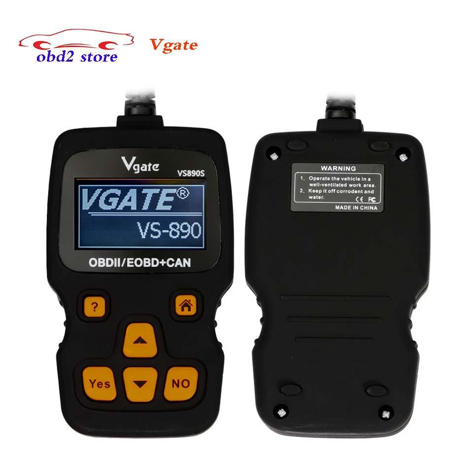Vgate VS890 Updated version VGATE VS890S OBD2 Scanner Auto Code Reader Multi-language OBDII OBD 2 Car Diagnostic Tool VS 890S 2016 new arrival vs 890 obd2 car scanner scantool obdii code reader tester diagnostic tools 3 inch lcd car detector