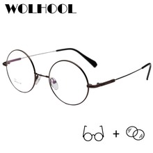 Mens Retro Ultralight Folding Round Prescription Glasses Pro