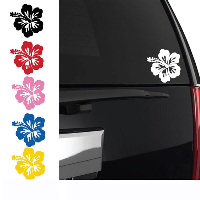 Hawaiian Hibiscus Flower Wall Sticker Car Stickerdecals Wall Decal