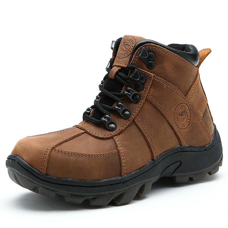 2017 New Fashion Boys Genuine Leather Plush Snow Boots Children Cotton Winter Shoes Lace-up Students Outdoor Sports Shoes new arrival fashion 2014 boys child boots child genuine leather boots snow boots children shoes 25 33