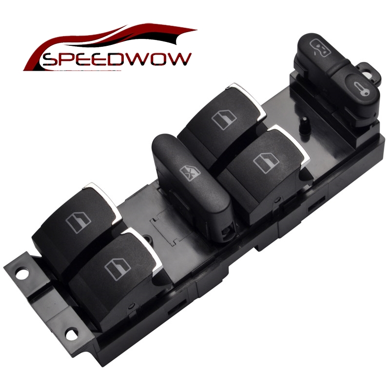 SPEEDWOW Master Power Window Control Switch Button For VW 99-04 GTI Golf 4 Jetta MK4 BORA BEETLE Passat B5 B5.5 3BD 959 857