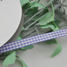 Upick 3/8″ 10mm Purple One Roll Tartan Plaid Ribbon Bows Appliques Sewing Crafts 50Y