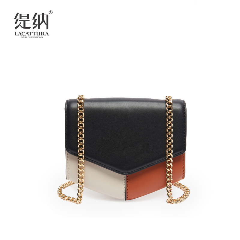 A1360 Lacattura brand European and American Style Women Handbag Lady Clutches Panelled PU Leather Shoulder Bags crossbody bag