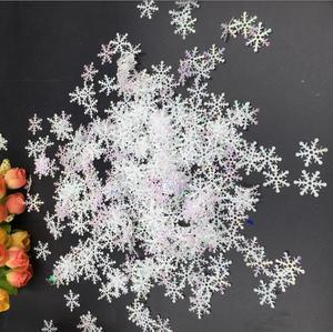 Image 3 - לבן פתיתי שלג פלאפי פתית שלג קונפטי חורף קונפטי שולחן חתונה מסיבת חג המולד קישוט 300 יח\אריזה