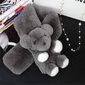 Women Whole set rabbit skin Rex rabbit fur scarf Real Natural Rabbit Fur Scarves