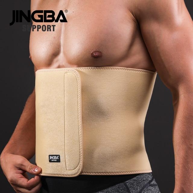 JINGBA SUPPORT 1PCS Professional Adjustable waist trimmer sweat belt Sports Pressurized Back Waist Support Fitness Bodybuilding