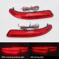 LED Reflector Stop Brake Light Fog Lamp For Nissan Almera Bluebird Sylphy Backup Tail Rear Bumper
