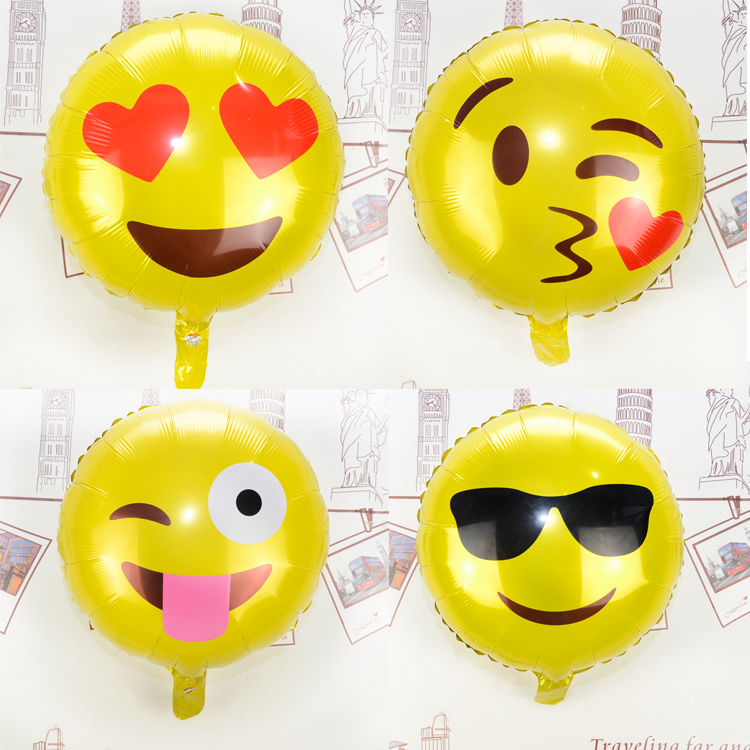 4pcs Lot Emoji Balloons 18 Cool Mylar Balloon Face Funny Birthday In Ballons Accessories From Home Garden On