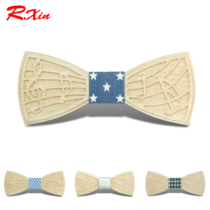 New Design Formal Commercial Wooden Bow Ties