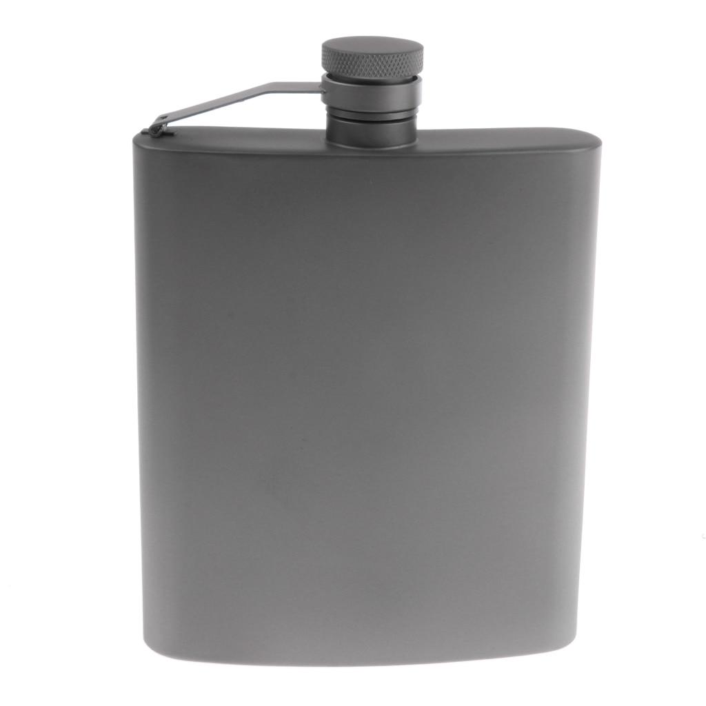Lightweight Titanium Pocket Hip Flask for Men Women Camping Hiking Travel Garden Wedding Party Gift Travel Climbing Accessories