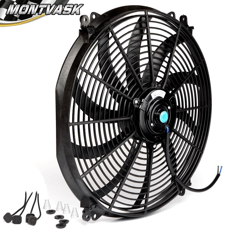Universal 16 Inch 12v Slim Fan Push Pull Electric Radiator Cooling Mount Kit In Fans Kits From Automobiles Motorcycles On Aliexpress Alibaba