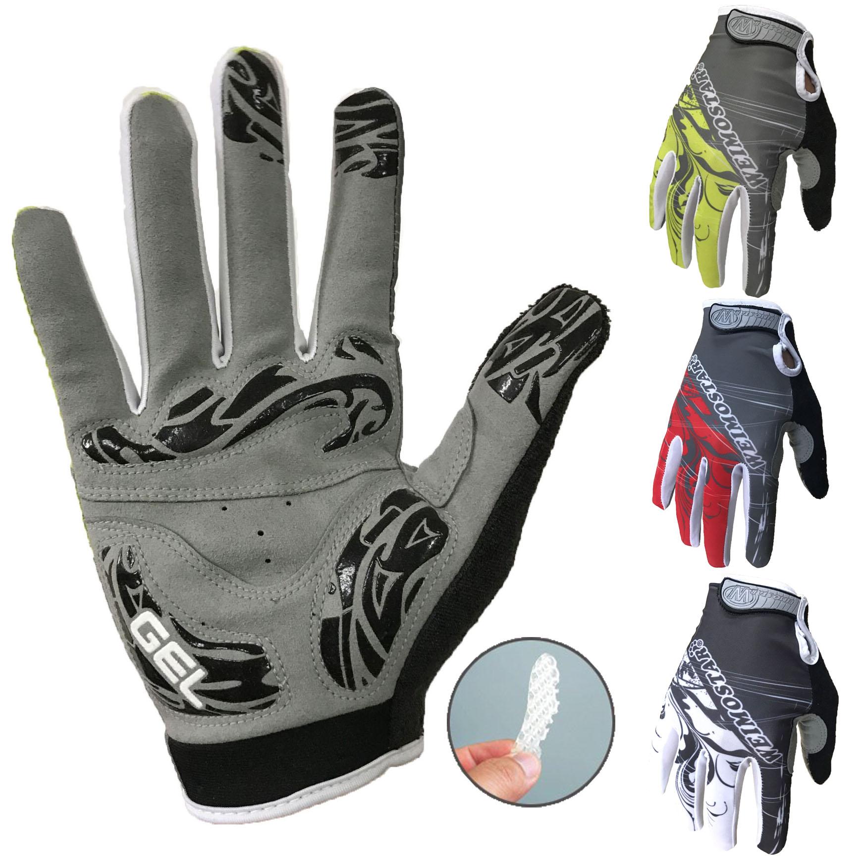 TELEYI Touch Screen Long Full Fingers Gel Cycling Gloves Winter Fall Women Men Bicycle Gloves MTB Road Bike Riding Racing Gloves