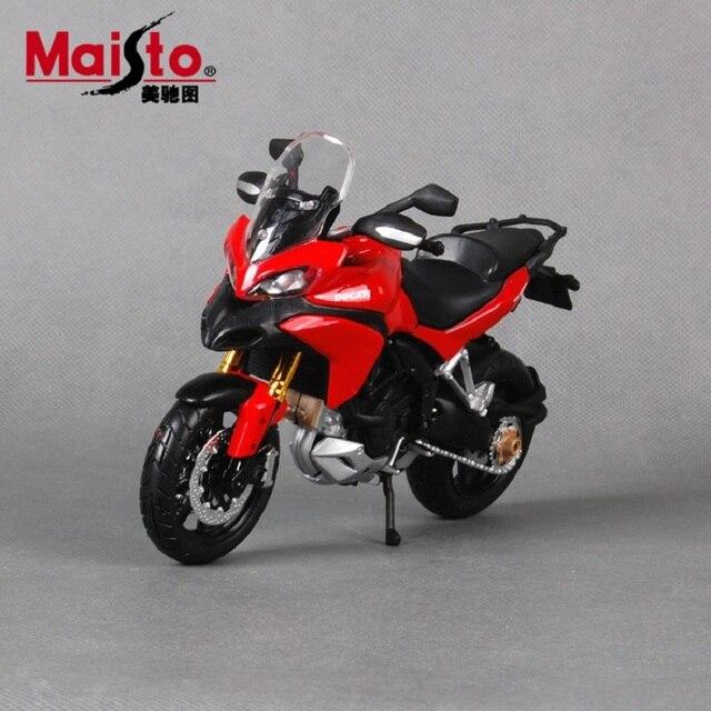 Maisto 1:12 modelos de motocicletas para a Ducati Multistrada1200S modelos de moto Diecast metal carro de corrida crianças brinquedos para meninos