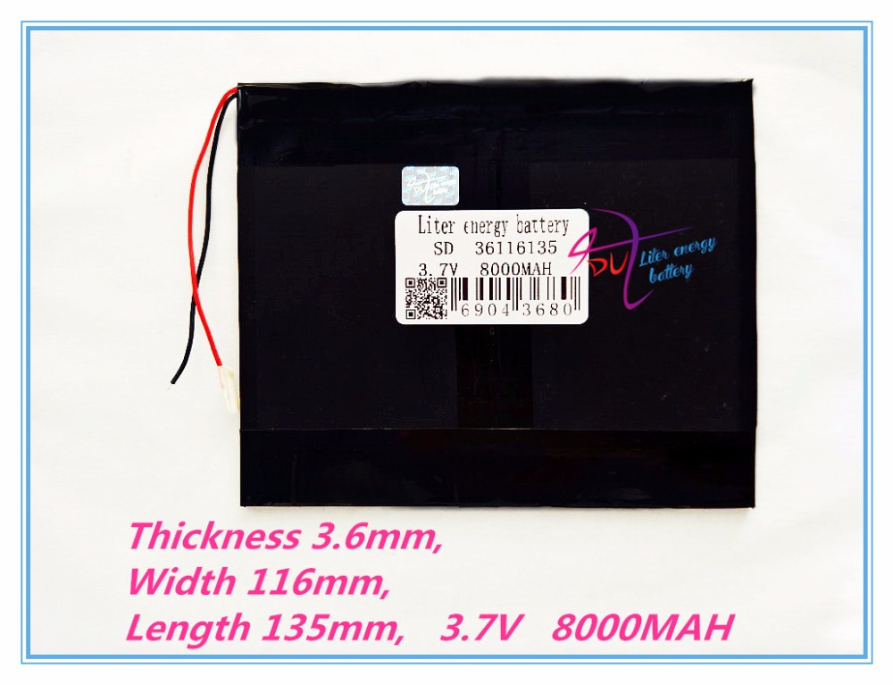 Free Shipping Large Capacity 3 7 V Tablet Battery 8000 Mah Each Brand Tablet Universal Rechargeable