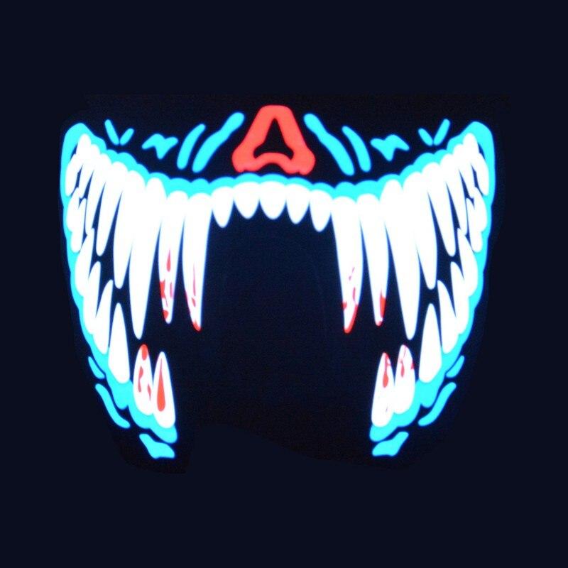 LED Musique Masque Son Intéressant et Voix-activé Respirant léger Musique Parti Masques Nouveau