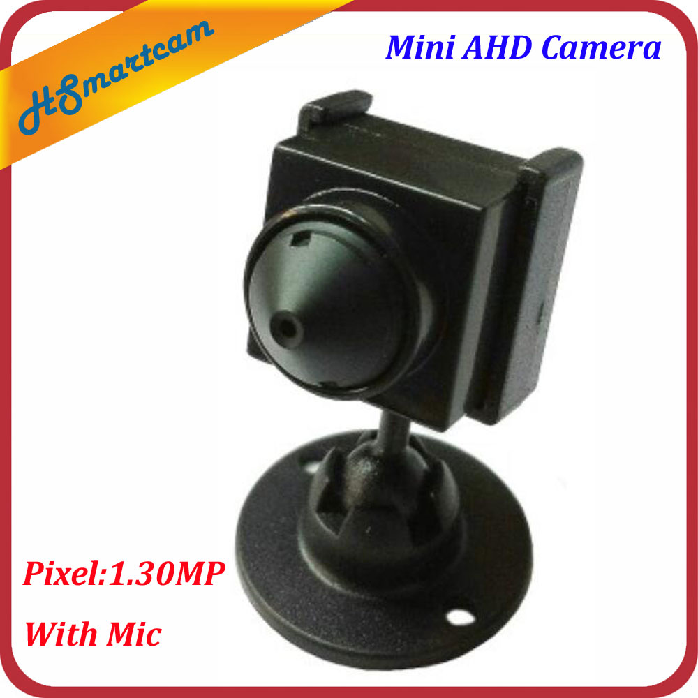 New Hot Mini HD AHD Camera CCTV Home Security 1.30MP Camera Pinhole 3.7mm Lens 1200TVL Cam With Mic For AHD DVR Systems 960p pinhole mini ahd camera 3 7mm pinhole lens 1 3megapixel pir camera cctv pinhole ahd mini camera with osd button