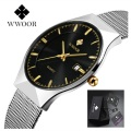 Luxury Watch Men Famous Brand WWOOR Business Men Watch 2017 Casual Quartz Watch Stainless Steel Men Watch Waterproof Male Clock