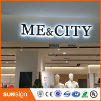Indoor Outdoor Board Lighting Alphabet LED Letter 3D Acrylic Illuminated Sign
