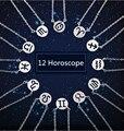 12 pçs/lote Colar Pingente Signo do zodíaco Sinais Constelação Colares Para As Mulheres 12 Constelação de Jóias Mulheres