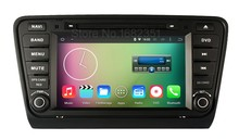 Quad Core 1024*600 Android 5.1.1 Car DVD Player GPS for Skoda Octavia 2014 2015 with Radio Canbus USB Mirror-link WiFi BT