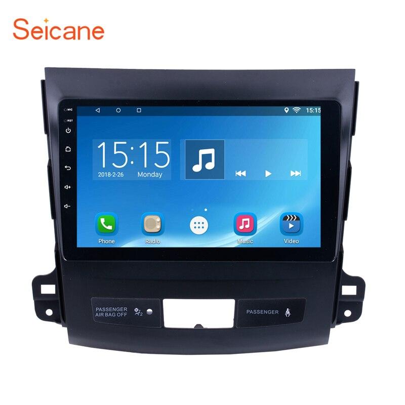 Seicane Quad-core Android 8.1 9 Pouces Écran Tactile Bluethooth 2Din Voiture Radio GPS Pour 2006 2007 2008 2009- 2014 MITSUBISHI Outlander