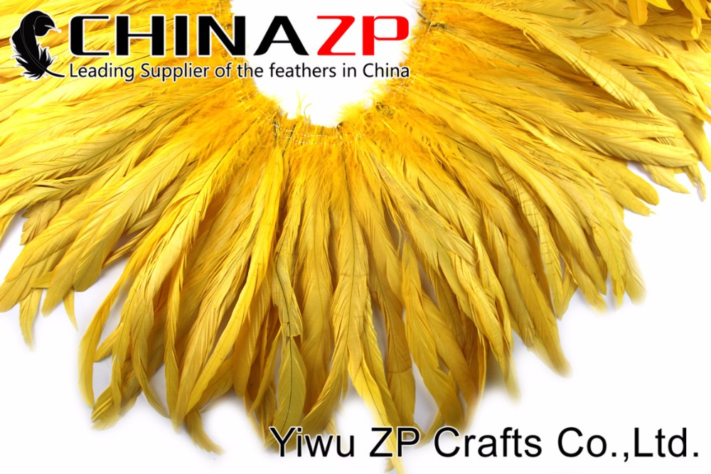2Yellow Roster tail Feather strung (7)