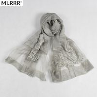 2019 New Silk Scarf Solid Color Pattern Scarves Embroidery Retro Shawl