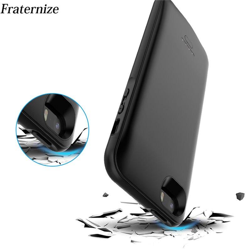 Magro à prova de choque caso carregador de bateria para iphone 5 5S se se2 2018 5g carregador externo capa ultra backup power bank caso de carregamento