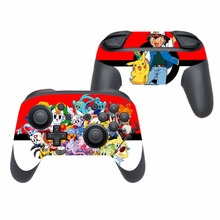 Game For Pokemon GO Pikachu Vinyl Cover Decal Skin Sticker for Nintendo Switch Pro Controller Gamepad Skin Stickers