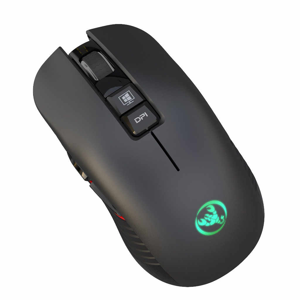 VOBERRY  2.4 GHz HXSJ T30 Ergonomic Wireless Game Mute Mouse 3600 DPI Rechargeable Mute Mouse