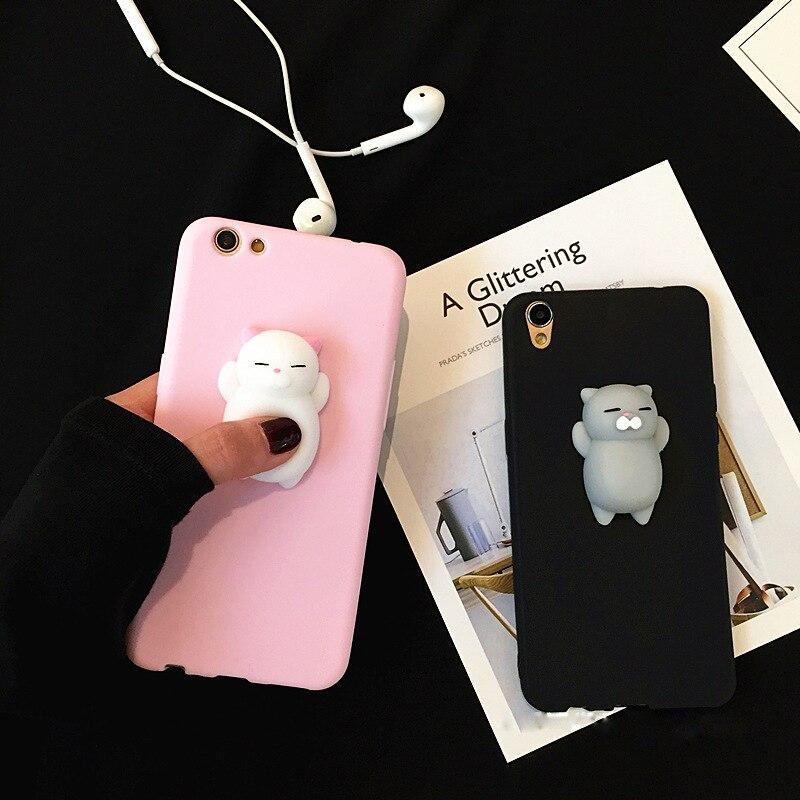 XINGYUANKE Squishy Phone Case For Xiaomi Redmi Note 5A Case Soft Silicone Cute Cartoon Cat Cover For Redmi Note 5A Pro Coque