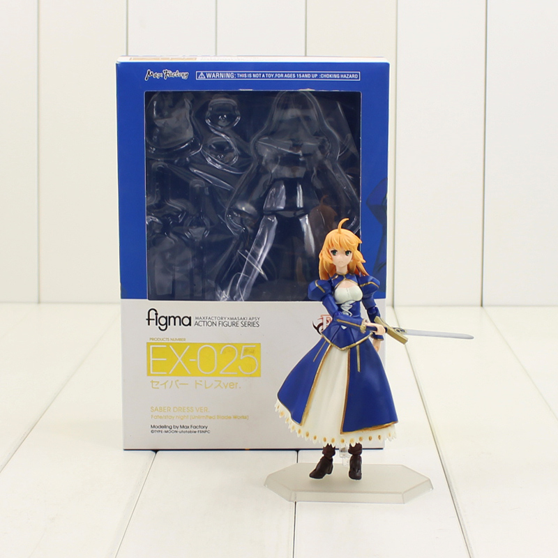 14cm Saber Arturia Pendragon ex #025 Fate/stay night PVC Action Figure Model Toy 025# Saber collection for friends gift rolecos japanese anime fate stay night altria pendragon cosplay costume fate zero saber arturia pendragon cosplay costume
