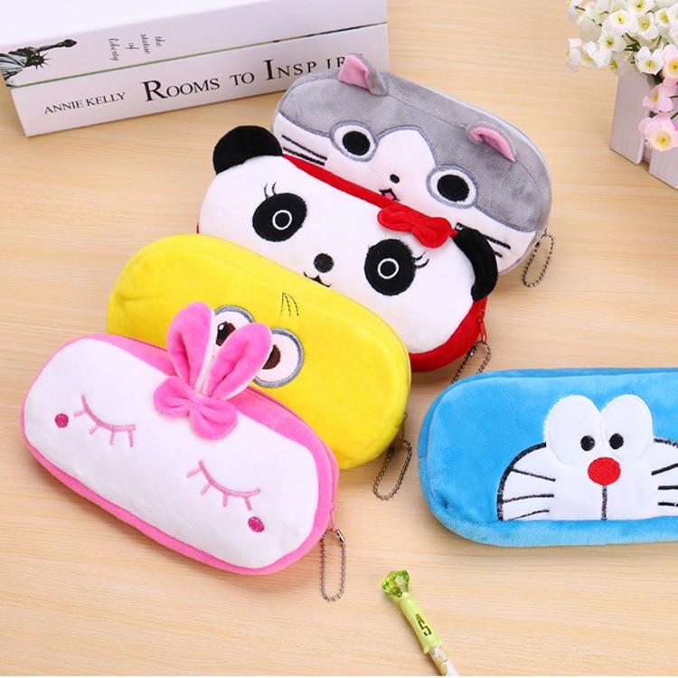 Cute Cartoon Plush toys Bag Kawaii Pen Case School Kids Pencil Box Animals Fashion mini Bag for boys girls children's gift