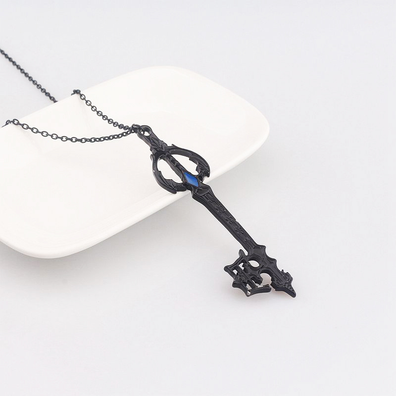 Hot game kingdom hearts oblivion blade necklace black oathkeeper hot game kingdom hearts oblivion blade necklace black oathkeeper keyblade necklaces pendants jewelry accessories cosplay gift in pendant necklaces from aloadofball Image collections