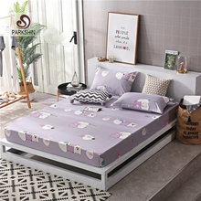 Parkshin 1PCS Cartoon Bed Fitted Sheet Mattress Covers On Elastic Band Linen Euro Double Queen Size Rubber