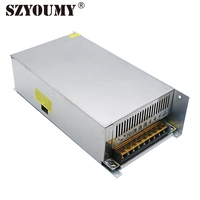 SZYOUMY 12V 50A LED Power Converter Non Waterproof Switching Power Supply LED Transformer Driver 600W With Heatsink Fan