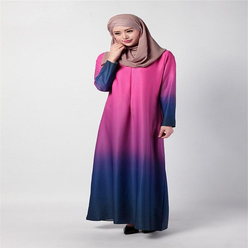 Bubble Tea Baju Muslim Wanita Islam Abaya Pakaian Dubai Turki Kaftan Busana  Gamis Arab Gaya Baru Rainbow Minggu Populer di Pakaian Islamic dari Novelty  ... a7583bd4a8