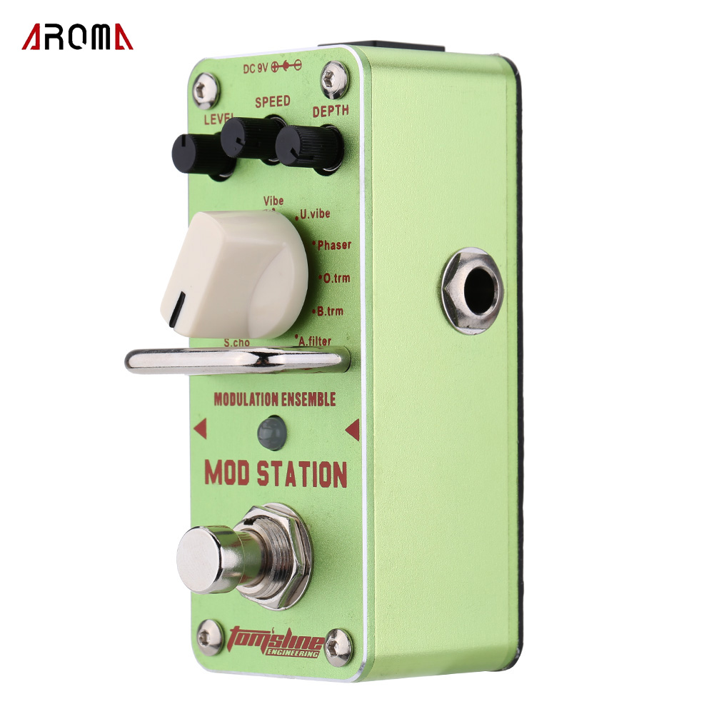AROMA AMS 3 Mod Station Guitar Effect Pedal Modulation Ensemble Electric Guitar Pedal Mini Single Effect