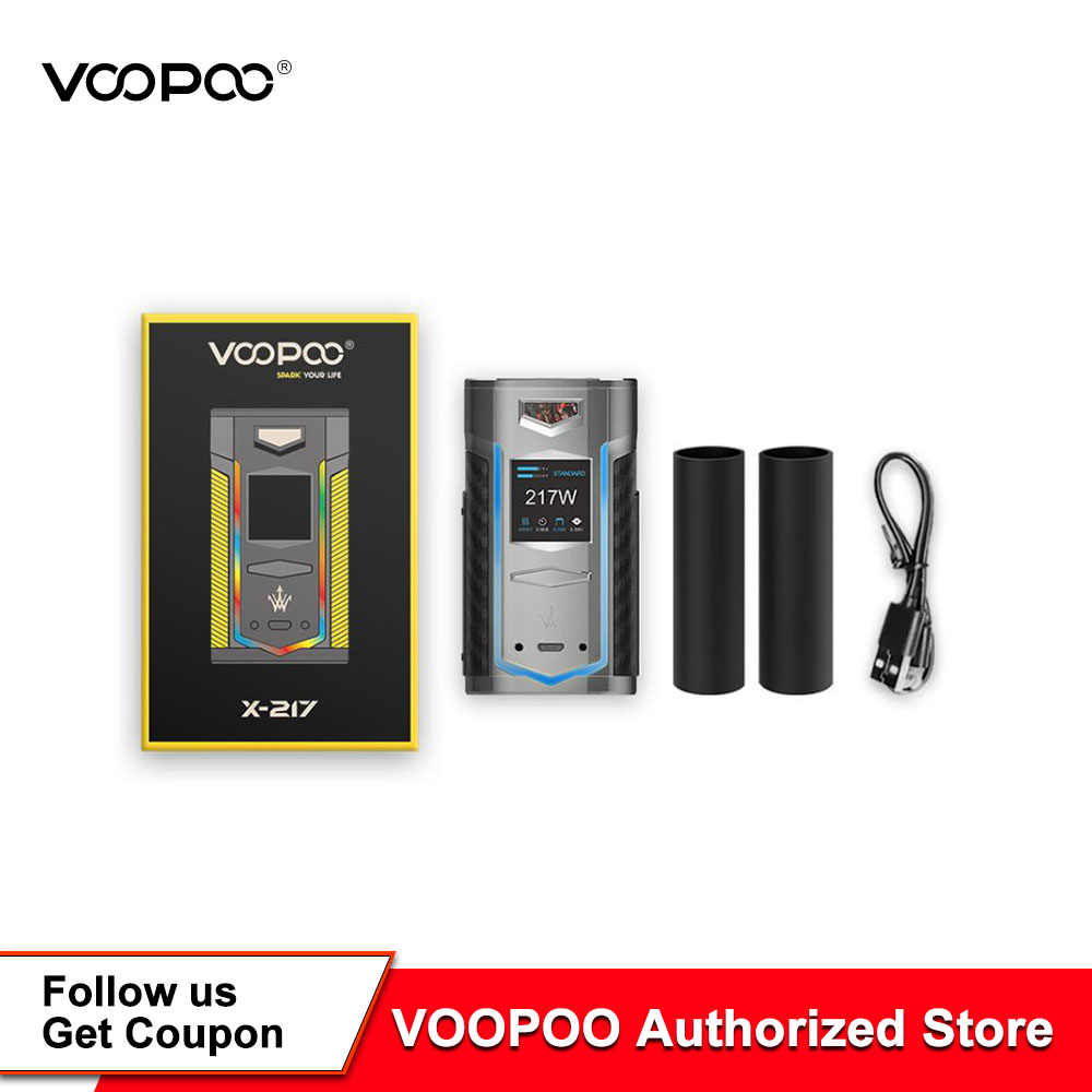 Original VOOPOO X217 TC Box Mod 217W Electronic Cigarette Vape GENE.FAN Chip VS Drag 2/Luxe Mod /Drag Mini E