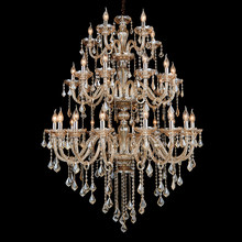 15/18/30/36 heads silver cognac Crystal lamp Led fixture bohemian crystal chandelier living room retro chandeliers Lampada led(China)