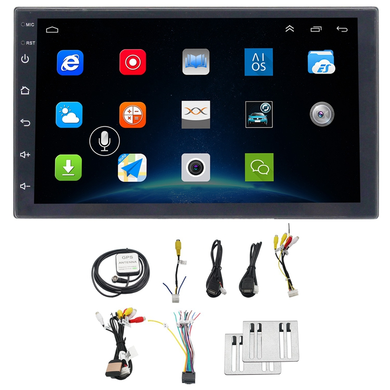 7 Inch 2 Din Car Gps Radio Player Android 8.1 Universal Radio Gps Navigation Audio Player
