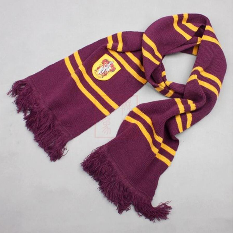 Christmas present Scarves Gryffindor Slytherin Hufflepuff Ravenclaw Scarf Scarves Cosplay Costume Magic School Slytherin Scarf